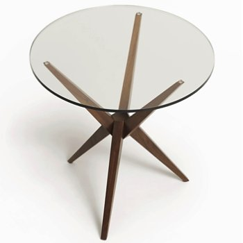 Shown in Glass Top with Base