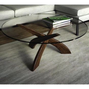 Statements Entwine Round Coffee Table, in use