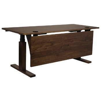 Shown in With Modesty Panel, With Wood Legs, With Pencil Drawer