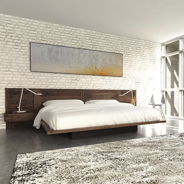 Moduluxe Bed with Louvered Headboard