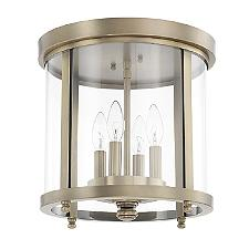Round Glass 4 Light Flushmount