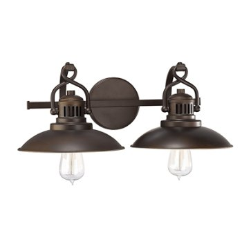 Shown in Burnished Bronze finish, 2 Light