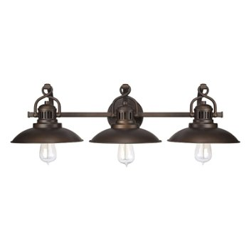 Shown in Burnished Bronze finish, 3 Light