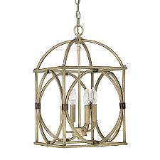 Circular Detail Metal Pendant Light