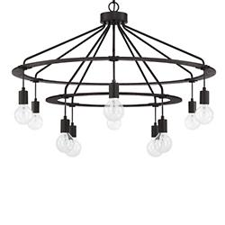 Round Metal 2 Tier Chandelier