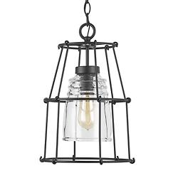 Barn Style Outdoor Cage Pendant