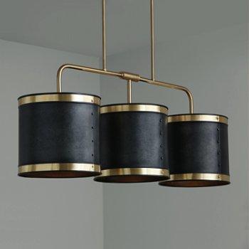 Shown in Galvanized Black and True Brass finish