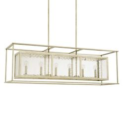 Island 6 Light Linear Suspension