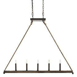 Island 5 Light Linear Suspension