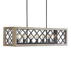 Rectangular Caged Linear Suspension