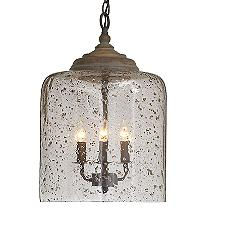 Seeded Glass Cloche Pendant Light