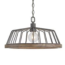 Metal Cage Tapered Drum Pendant Light