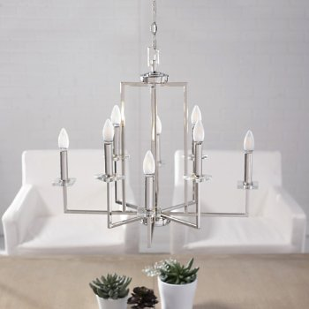 Shown in Polished Nickel Finish, Medium size, in use