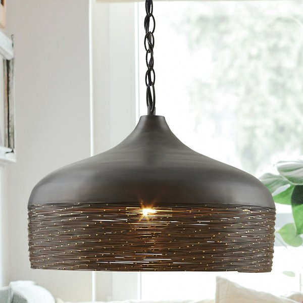 Wired Metal Pendant