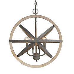 Wood and Iron Pendant