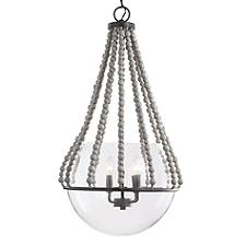Beaded Glass Orb Pendant Light