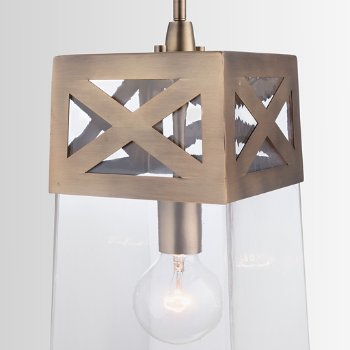 Shown in Aged Brass finish, lit