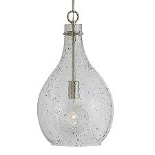 Large Seeded Glass Pendant Light