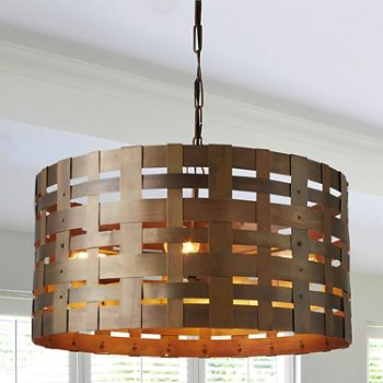 Shown in Patinaed Brass finish, lit