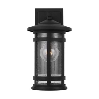 Shown in Black finish, Small size, lit