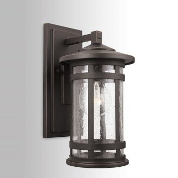 Shown in Oiled Bronze finish, Small size, lit