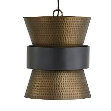 Metal Hourglass Pendant Light