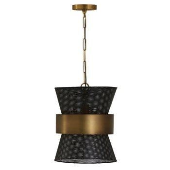 Shown in Metel Mesh and Patinaed Brass finish