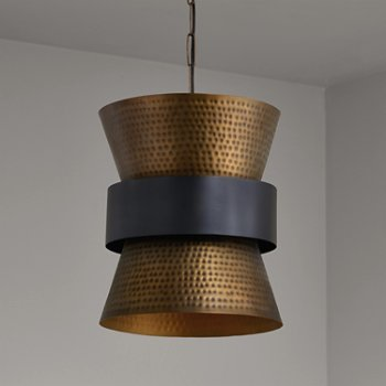 Shown in Patinaed Brass and Dark Zinc finish