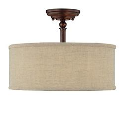 Loft Semi-Flushmount (Bronze w/ Tan Shade) - OPEN BOX RETURN
