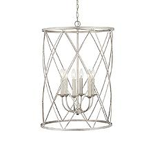 Caged Foyer Pendant Light