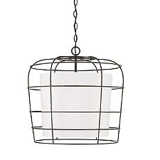 Wire Caged Drum Pendant Light