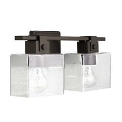 Cube Seeded Glass Bath Bar