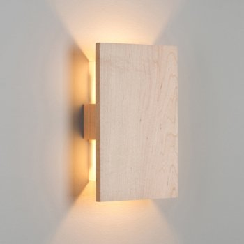 Shown lit with solid Maple wood (no metal finish)