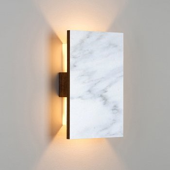 Shown in Carrara Marble/ Walnut