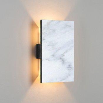 Shown in Carrara Marble/ Dark Stained Walnut