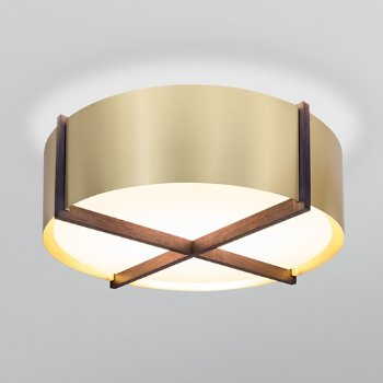 Shown in Distressed Brass shade