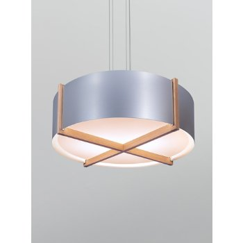 Shown in Brushed Brass shade with Dark Stained Walnut wood body