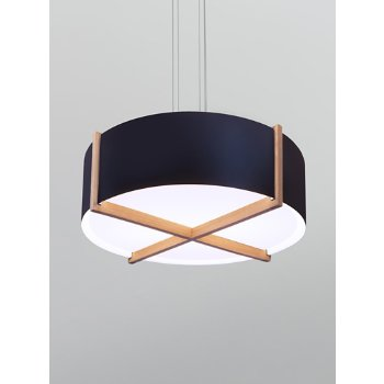 Shown in Distressed Brass shade with White Washed Oak wood body