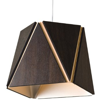 Shown in Dark Stained Walnut outer shade, Rose Gold inner shade