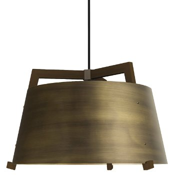 Shown in Distressed Brass and Walnut finish, Large size