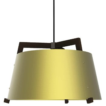 Shown in Brushed Brass and Walnut finish, Large size