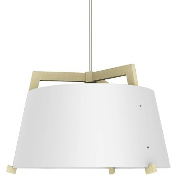 Shown in Gloss White and Maple finish, Large size