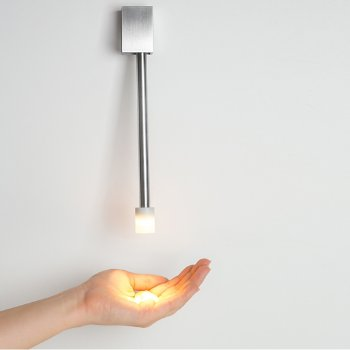 libri led direct mount plugin wall sconce