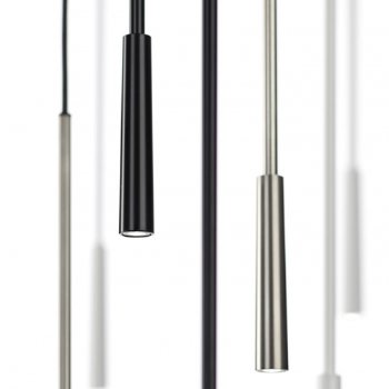 Shown in Matte Nickel, White, Black finish, collection