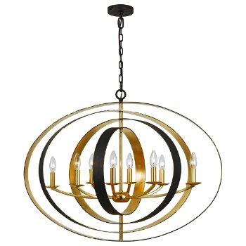Shown in English Bronze and Antique Gold finish