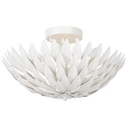 Broche Small Semi Flushmount/Wall Sconce (White) - OPEN BOX