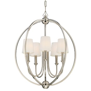 Shown in Polished Nickel finish with shade