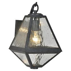 Glacier Black Charcoal Outdoor Sconce