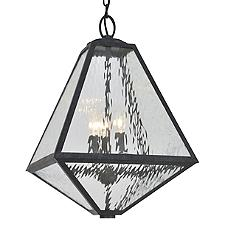 Glacier Black Charcoal Outdoor Pendant Light