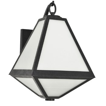 Shown in White Opal Glass Panel Shade material